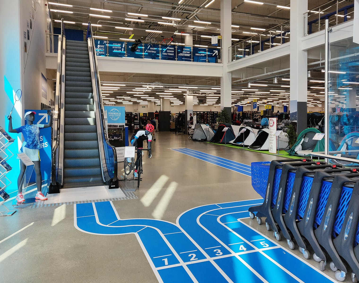 6dbab4fb6 The entrance of the Decathlon store in Surrey Quays